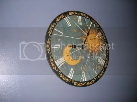 This is the clock on the wall in my bedroom.  Its more interesting that the kitchen clock.