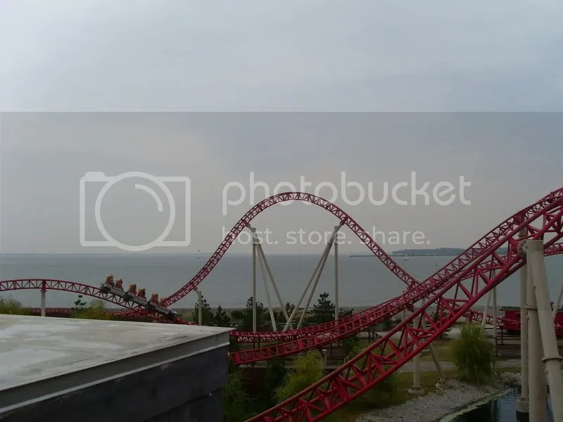 Here is a bad pic of The Maverick with Lake Erie in the background