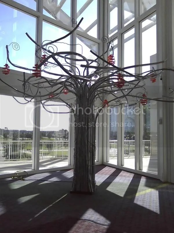 Wierd art tree at the convention center