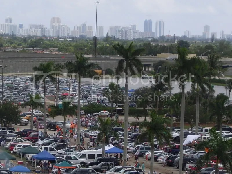 Thats our parking lot (with all the water) and Miami (I think) in the background