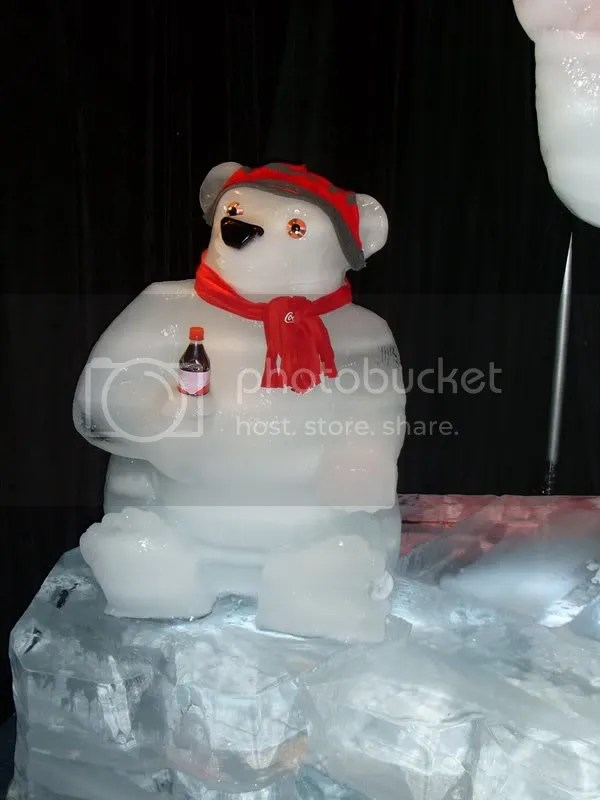 Coke bear...but somebody ripped the label off!