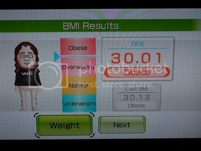 Almost NOT obese!!!!!