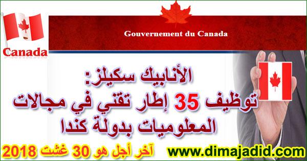الأنابيك سكيلز: توظيف 35 إطار تقني في مجالات المعلوميات بدولة كندا، آخر أجل هو 30 غشت 2018Anapec-skills: Avis de recrutement à Canada de 35 Cadres