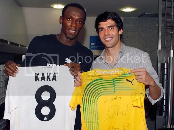 Ricardo kaka and Usain Bolt