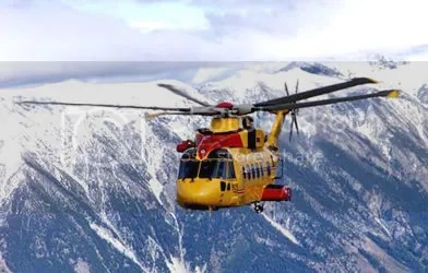Cormorant helicopter, the most beautiful sight for hikers and mariners in distress