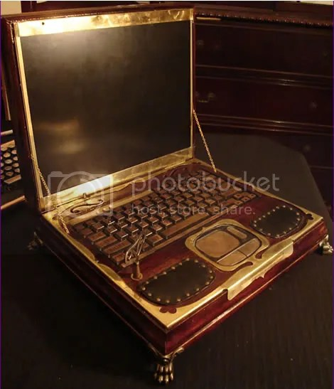 Datamancer's Steampunk Laptop