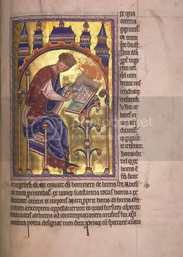Saint Isidore of Seville from the Aberdeen Bestiary