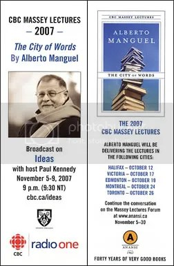2007 Massey Lectures with Alberto Manguel
