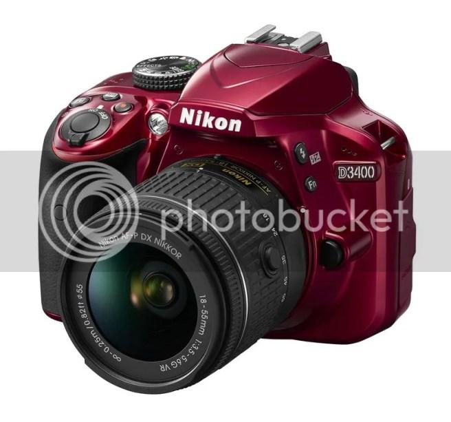 Nikon D3400 red