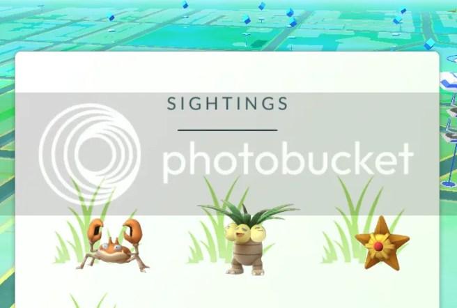 sightings pokemon go