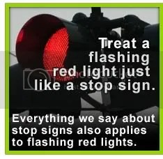 treat a flashing red light like a stop sign