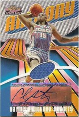 03/04 Topps Finest Carmelo Anthony Refractor Relic Auto RC