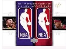 03/04 Exquisite Lebron James Kobe Bryant Logoman All Access