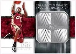 2003/04 Exquisite LeBron James Triple Jersey