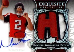 Matt Ryan 2008 Upper Deck Exquisite RC Patch Autograph