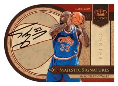 09/10 Panini Crown Royale Shaquille O'neal Majestic Auto