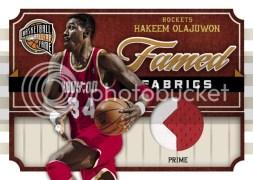 09/10 Panini Hall of Fame Hakeem Olajuwon Fame Jersey
