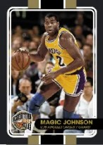 09-10 Panini Hall of Fame Magic Johnson Common Black