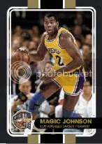 09-10 Panini Hall of Fame Magic Johnson Common Black