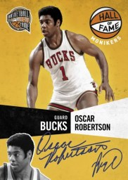 09/10 Panini Hall of Fame Monikers Oscar Robertson