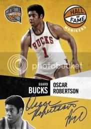 09/10 Panini Hall of Fame Monikers Oscar Robertson