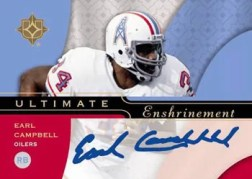 Earl Campbell Ultimate Collection Autograph