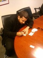 David Blaine Signing 2010 Topps Allen & Ginter Cards