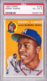 1954 Topps Henry Aaron #128 RC Card
