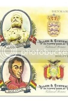 Ebbeson & Bolivar 2009 Topps Allen & Ginter National Heroes