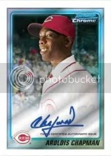 2010 Bowman Chrome Prospects Aroldis Chapman Autograph