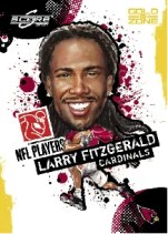 2010 Score NFL Players Larry Fitzgerald Insert