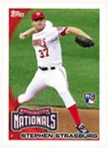 2010 Topps Series 2 Stephen Strasburg #661 Redemption (RC)
