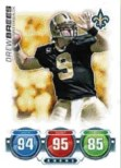 2010 Topps Attax Drew Brees Base Card