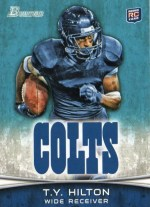 2012 Bowman TY Hilton Base RC Card