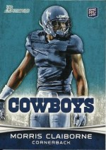 2012 Bowman Morris Claiborne Base Card