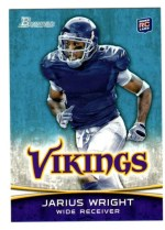 2012 Bowman Jarius Wright Base RC Card