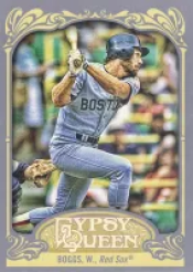2012 Topps Gypsy Queen Wade Boggs Sp Photo