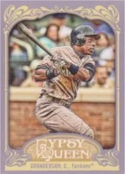 2012 Topps Gypsy Queen Curtis Granderson Sp Photo Variation