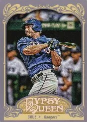 2012 Topps Gypsy Queen Nelson Cruz Sp Photo Variation