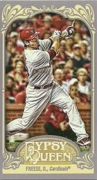 2012 Topps Gypsy Queen David Freese Mini
