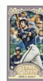 2012 Topps Gypsy Queen Ryan Braun Mini
