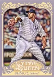 2012 Topps Gypsy Queen CC Sabathia Sp Photo Variation