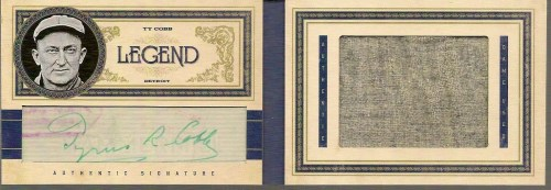 2011 Panini Prime Cuts Ty Cobb Book Card