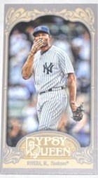 2012 Topps Gypsy Queen Mariano Rivera Mini Sp Card