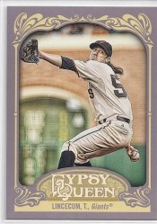 2012 Topps Gypsy Queen Tim Lincecum Sp Photo Variation