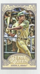 2012 Topps Gypsy Queen Reggie Jackson Mini Card