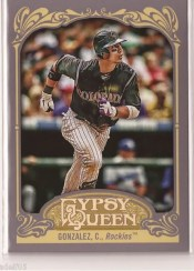 2012 Topps Gypsy Queen Carlos Gonzalez Sp Variation Card