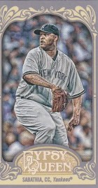 2012 Topps Gypsy Queen CC Sabathia Mini