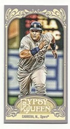 2012 Topps Gypsy Queen Miguel Cabrera Base Mini