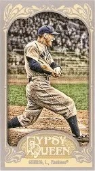 2012 Topps Gypsy Queen Lou Gehrig Mini